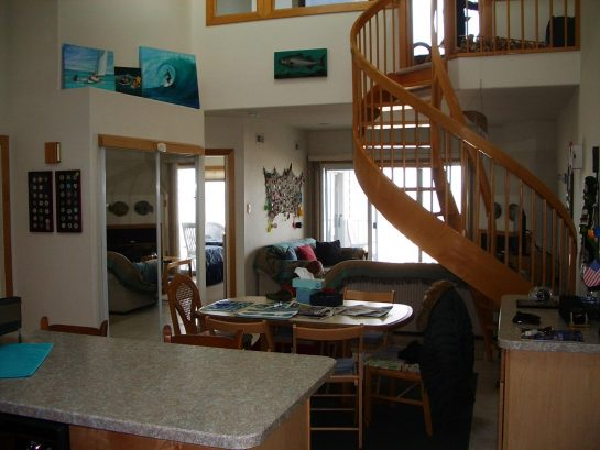 View as you enter the condo to kitchen