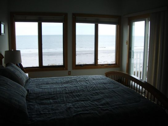 View of the ocean from Master bedroom