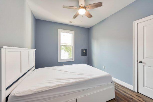 left unit BR 1, queen bed, large closet
