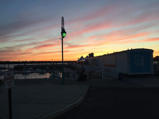 sunset at 9th ave pier