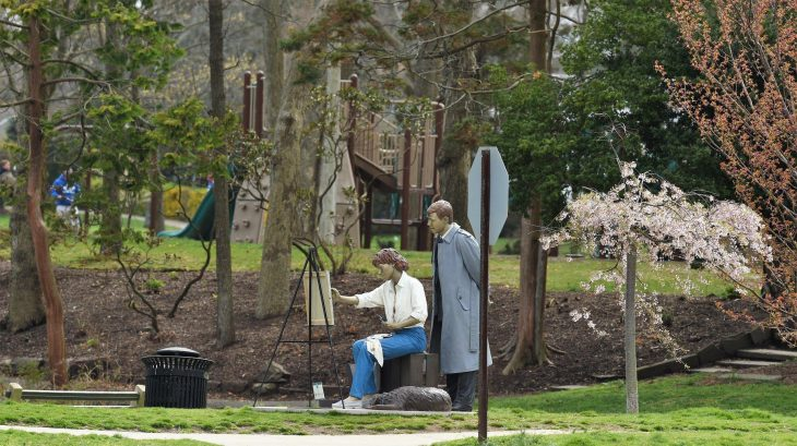 life-sized sculptures by Seward Johnson