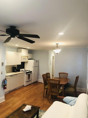 Open kitchen/dining space