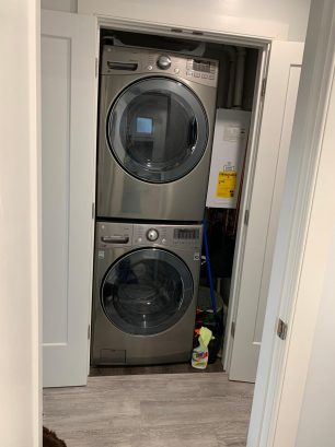 New washer/dryer. Laundry done in 1/2 the time.