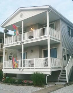 Front 2nd floor with covered deck